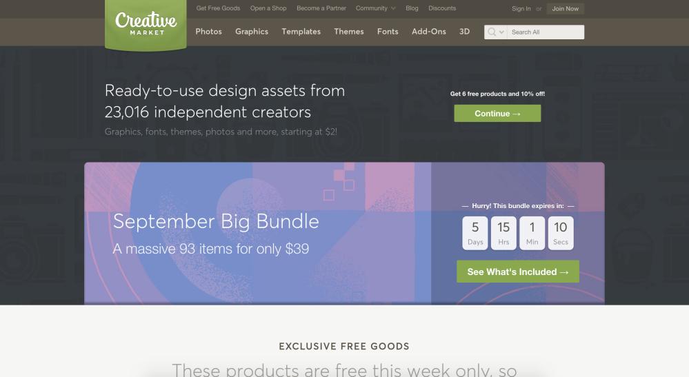 creative market site d'achat de visuels